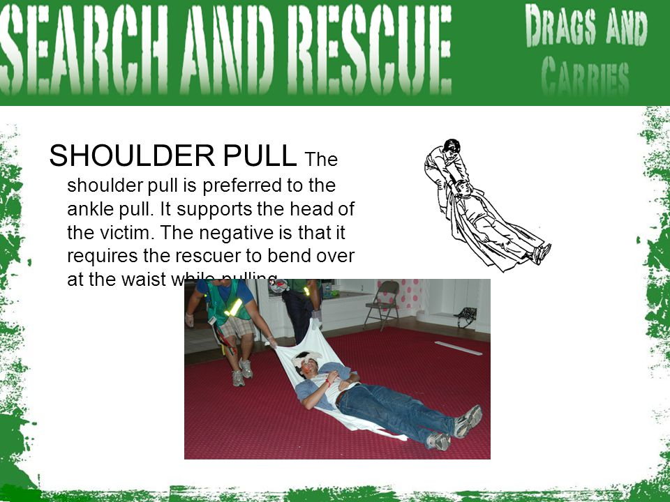 SHOULDER PULL The shoulder pull is preferred to the ankle pull