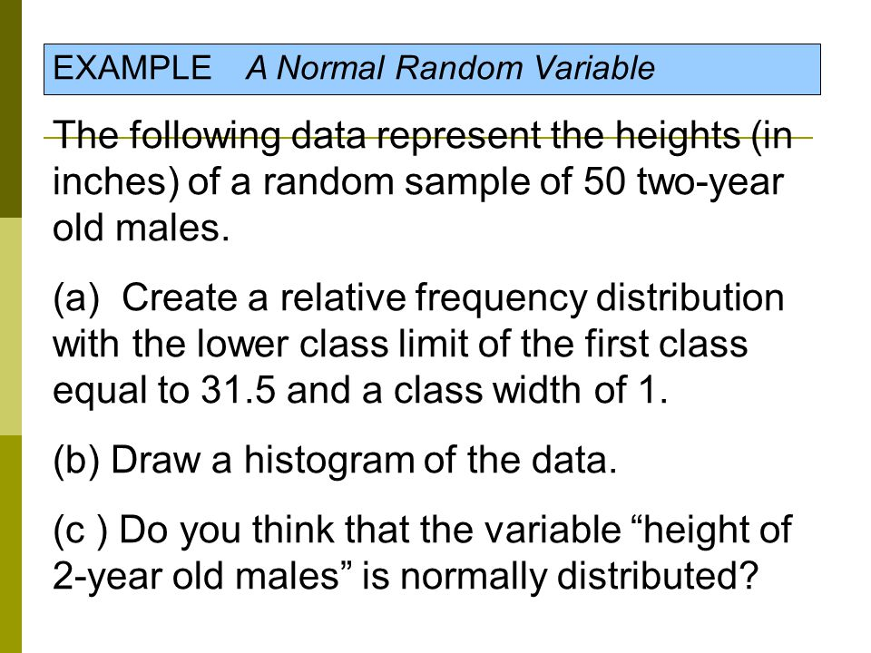(b) Draw a histogram of the data.