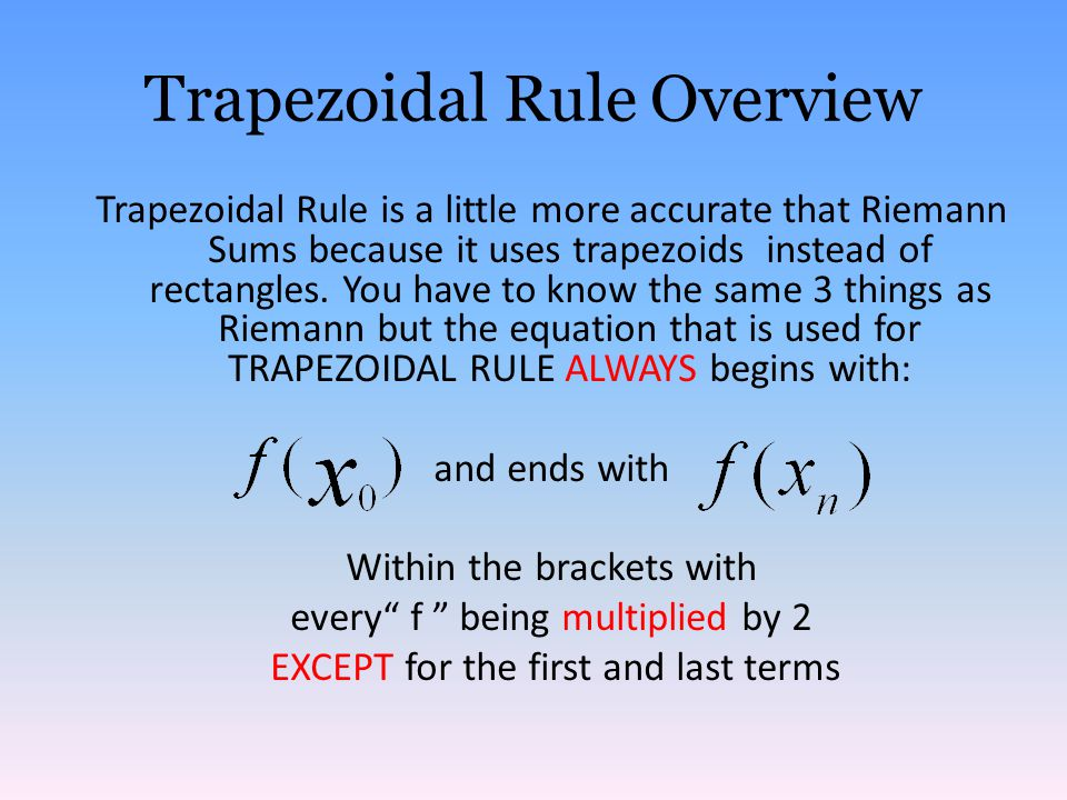 Trapezoidal Rule Overview