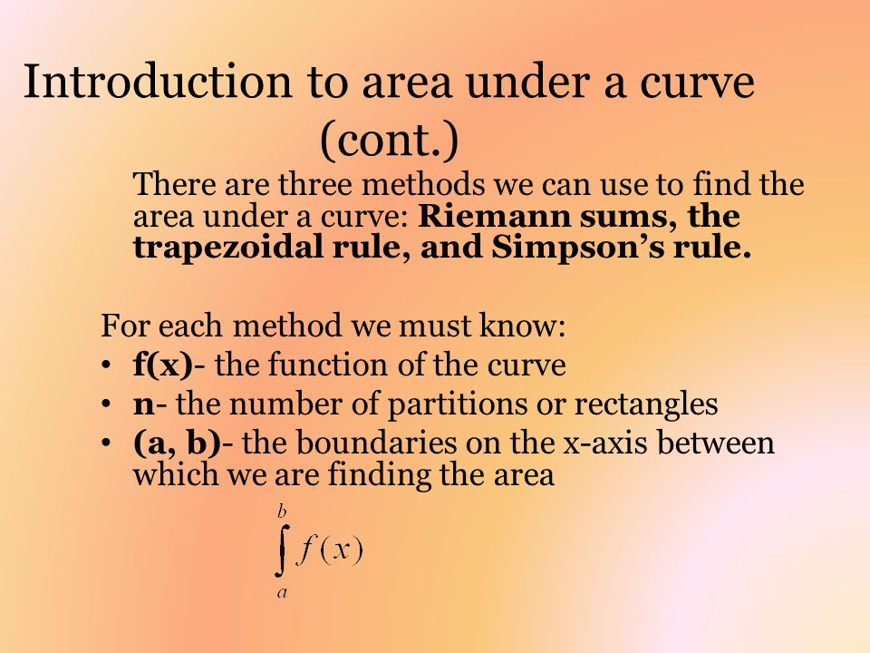 Introduction to area under a curve (cont.)