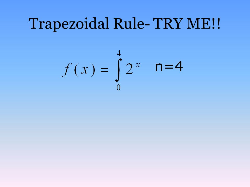 Trapezoidal Rule- TRY ME!!