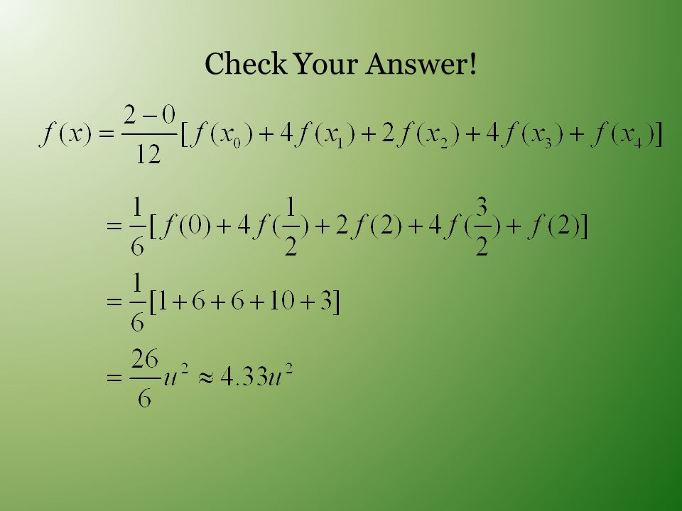 Check Your Answer!