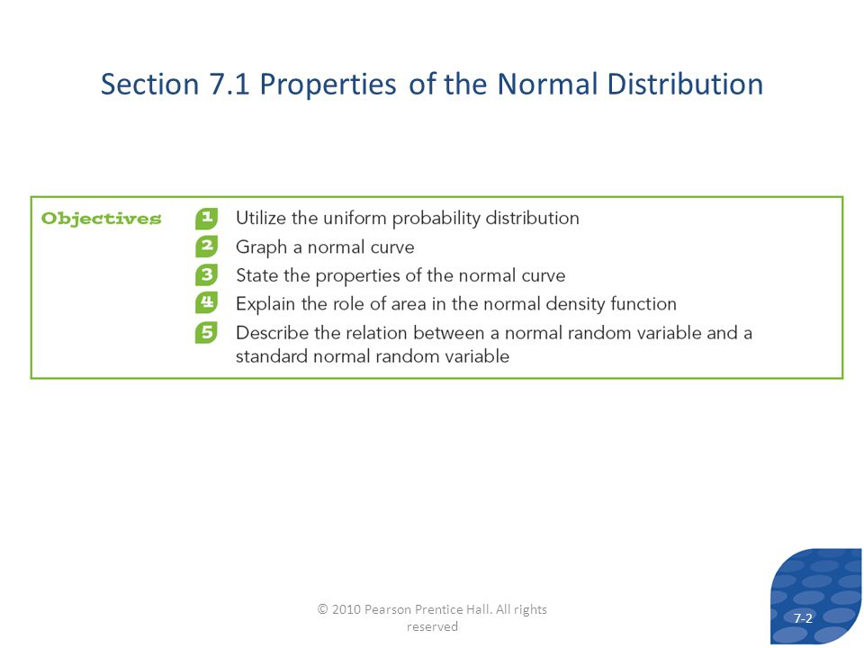 Section 7.1 Properties of the Normal Distribution