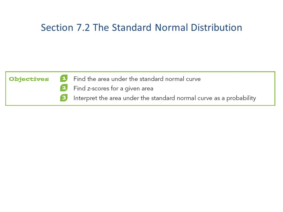 Section 7.2 The Standard Normal Distribution