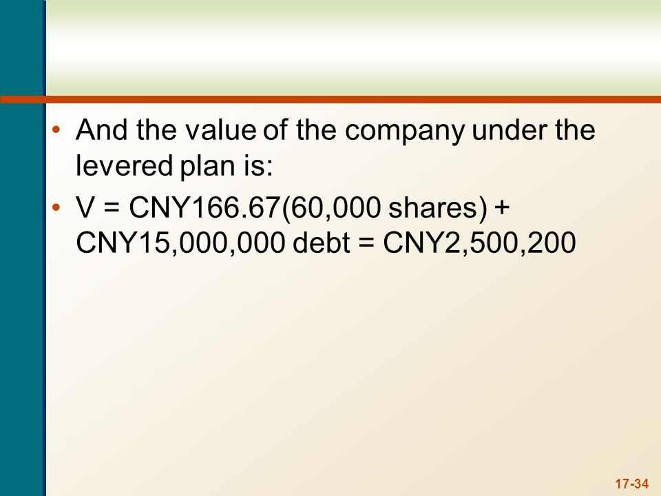 6. Break-Even EBIT and Leverage Malang Fabric Manufacturing is comparing two different capital structures. Plan I would result in 1,100 shares of stock and 17 million rupiahs in debt. Plan II would result in 900 shares of stock and 28 million rupiahs in debt. The interest rate on the debt is 10 percent.