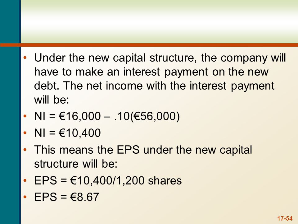 Since all earnings are paid as dividends, the shareholder will receive: