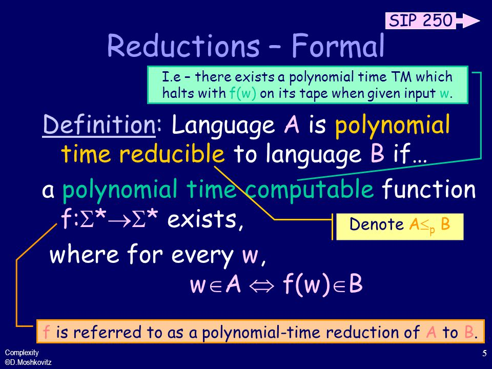 Reductions – Formal Definition