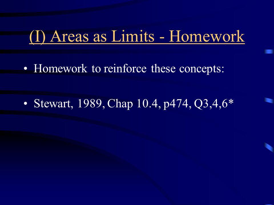 (I) Areas as Limits - Homework
