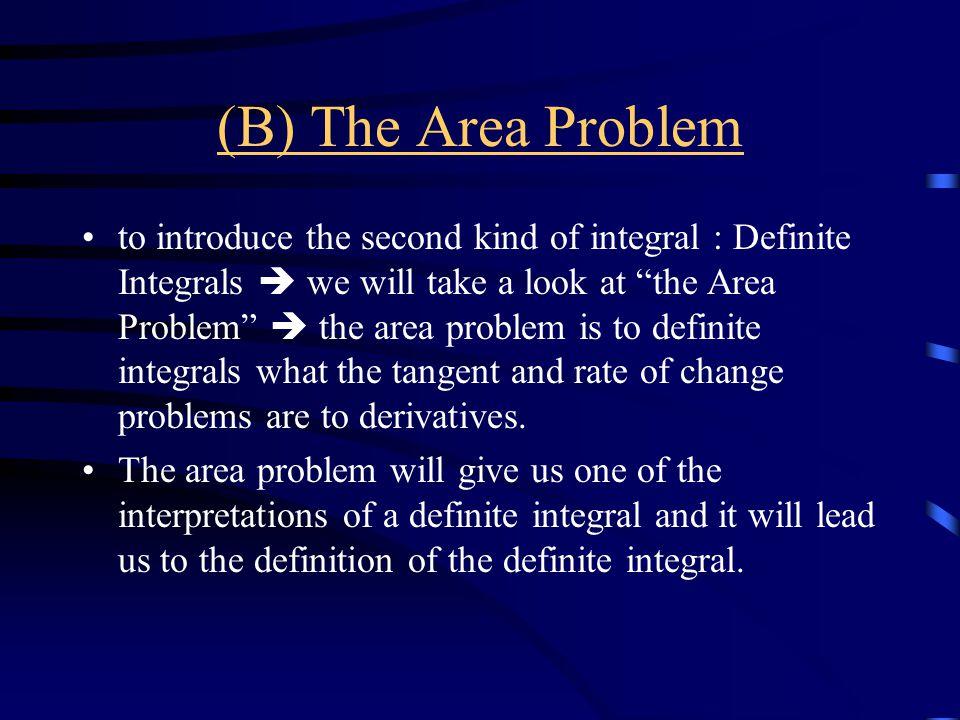 (B) The Area Problem