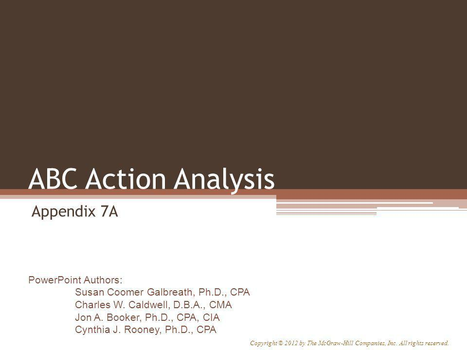 ABC Action Analysis Appendix 7A Appendix 7A: ABC Action Analysis