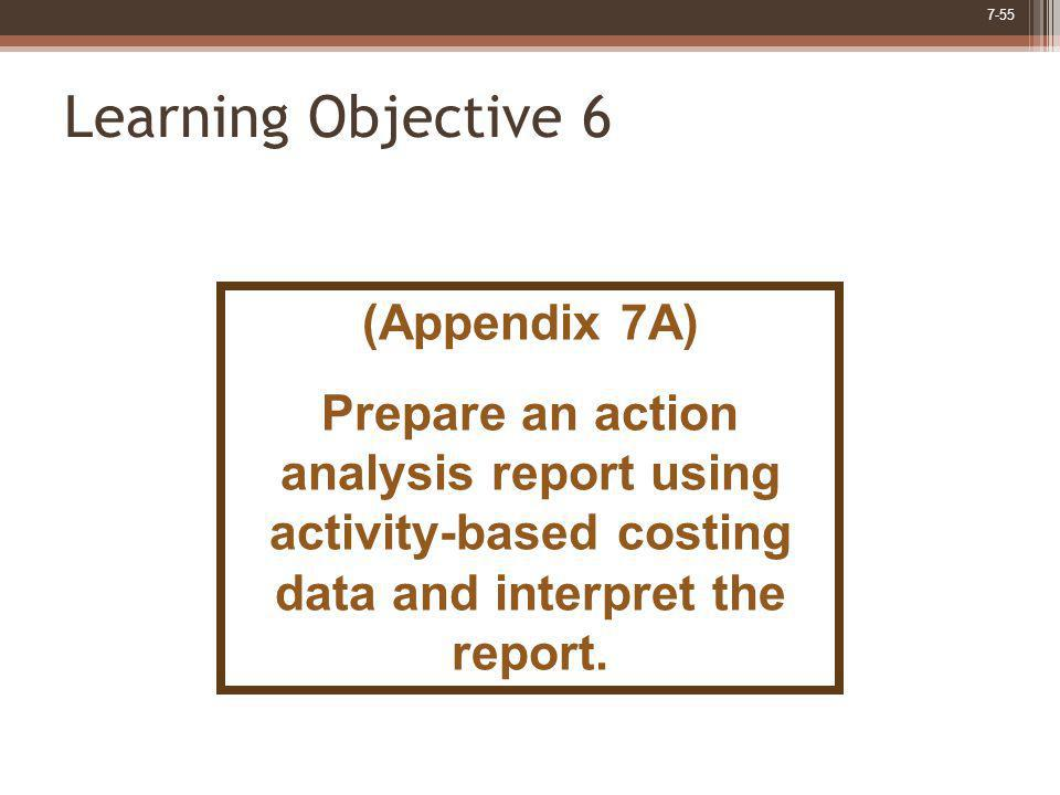 Learning Objective 6 (Appendix 7A)