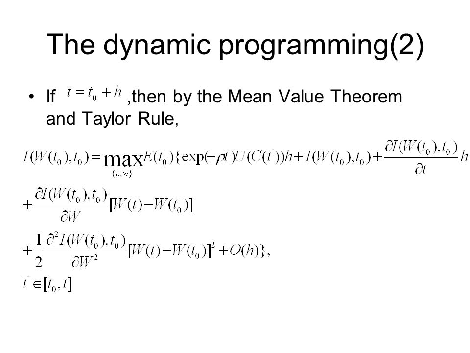 The dynamic programming(2)