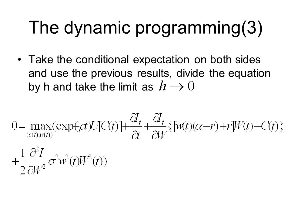 The dynamic programming(3)