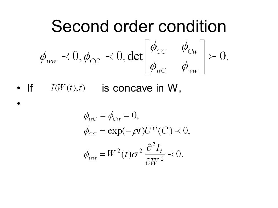 Second order condition
