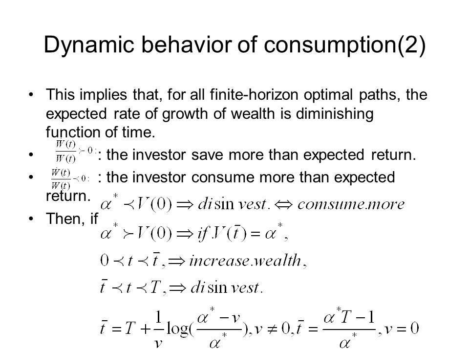 Dynamic behavior of consumption(2)