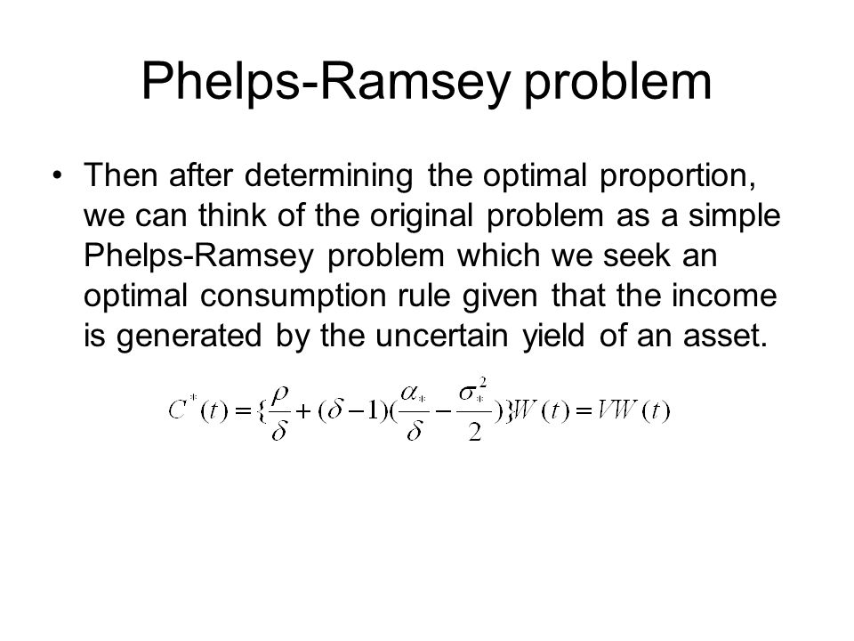 Phelps-Ramsey problem