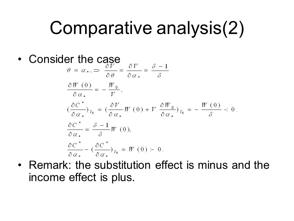 Comparative analysis(2)