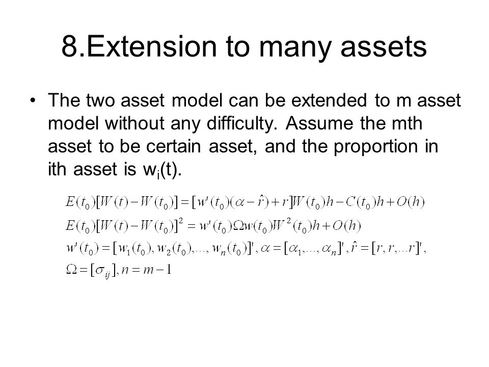 8.Extension to many assets