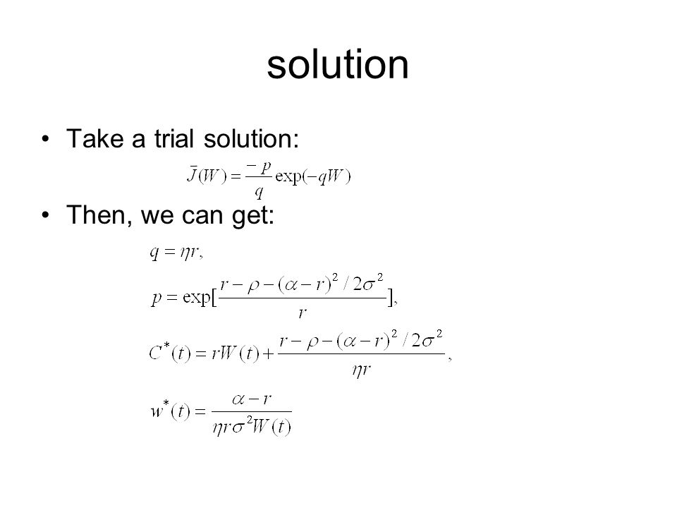solution Take a trial solution: Then, we can get: