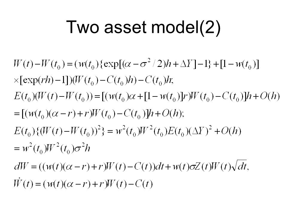 Two asset model(2)