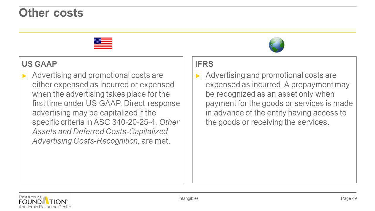 Other costs US GAAP.