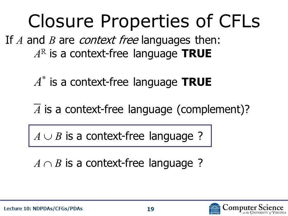 Closure Properties of CFLs