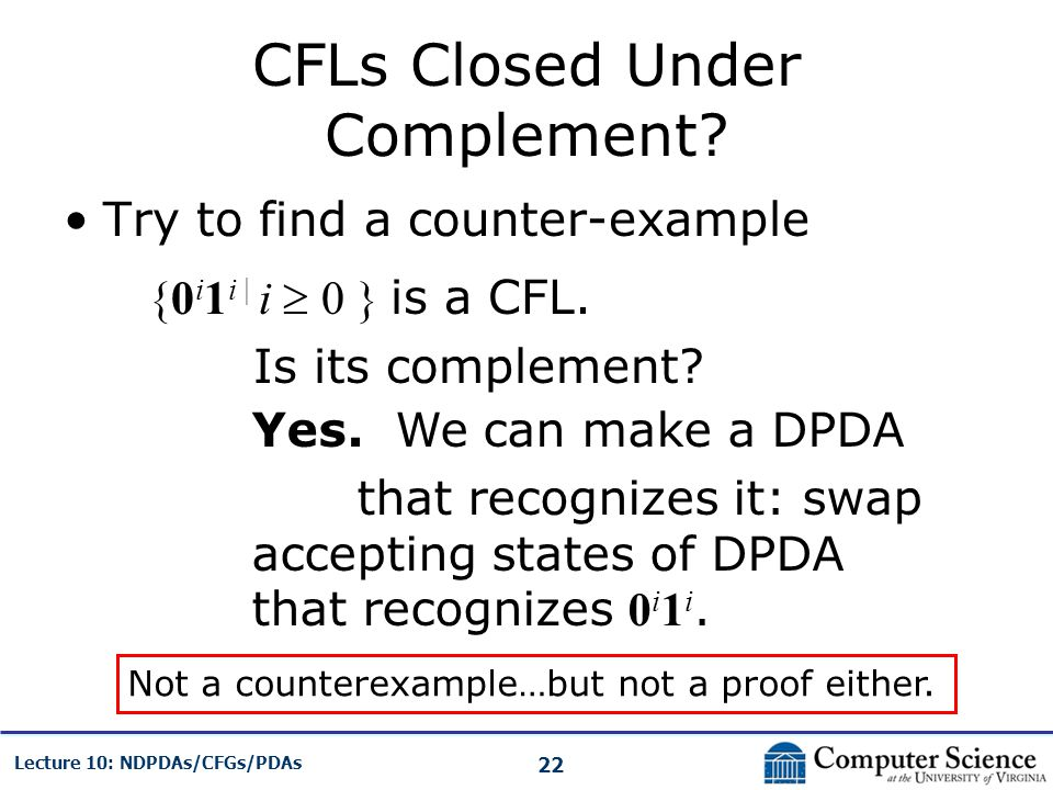 CFLs Closed Under Complement