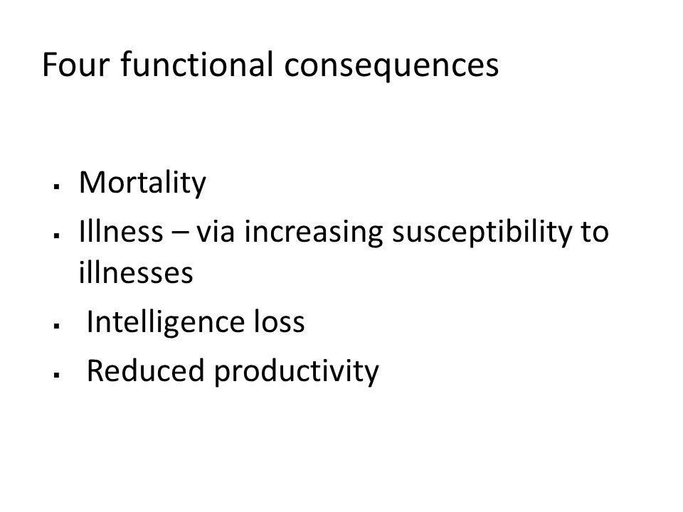 Four functional consequences