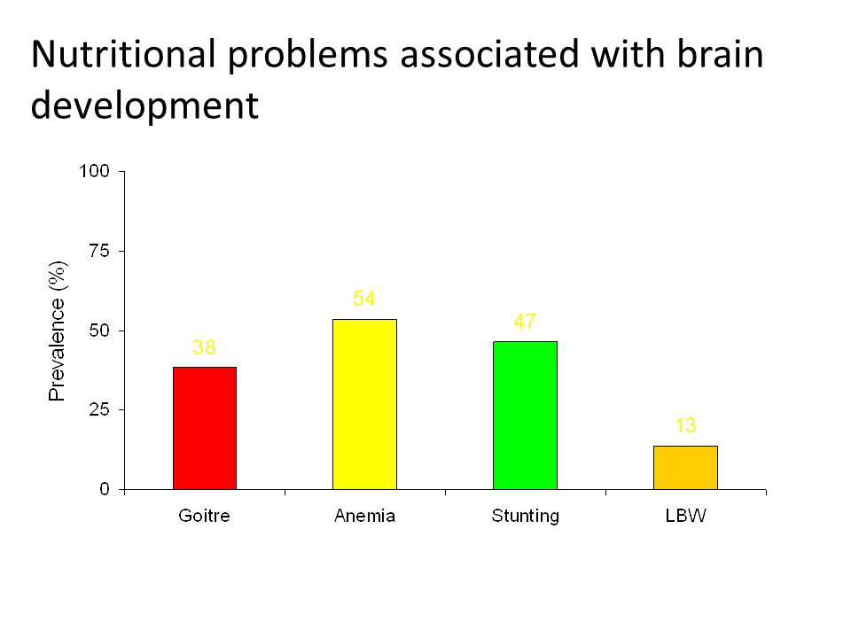 Nutritional problems associated with brain development