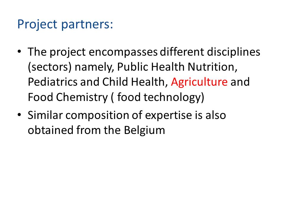 Project partners: