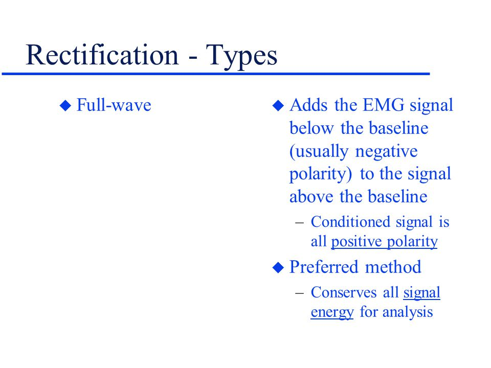 Rectification - Types Full-wave