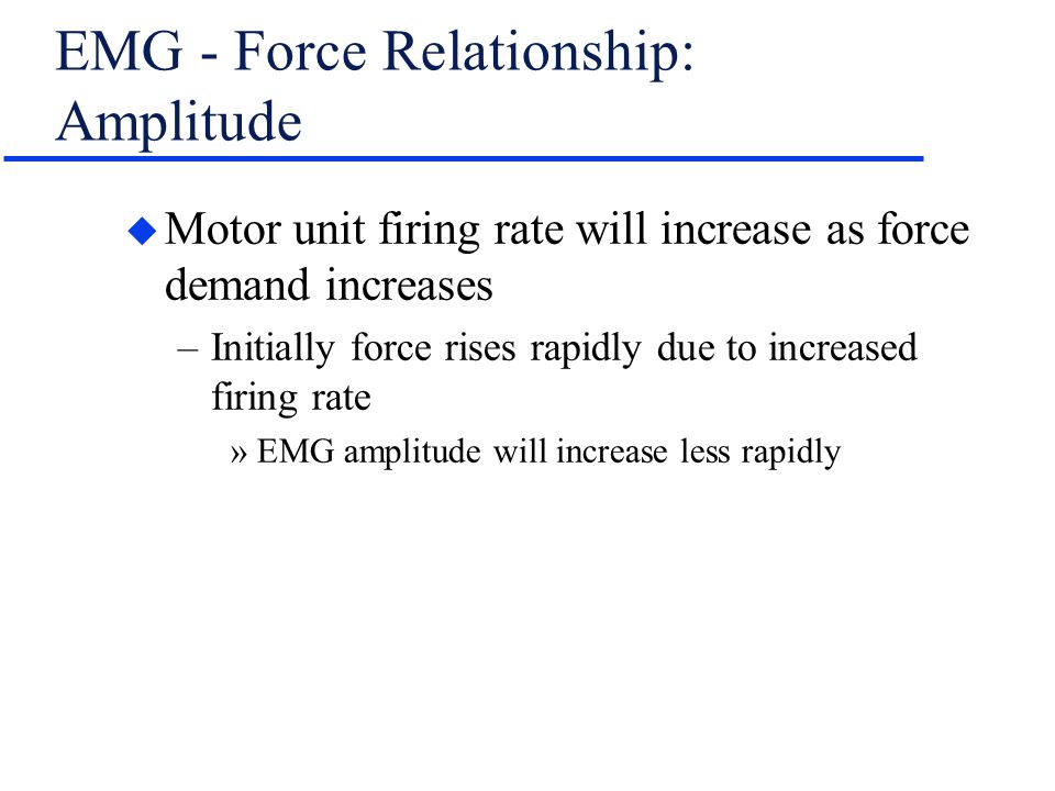 EMG - Force Relationship: Amplitude