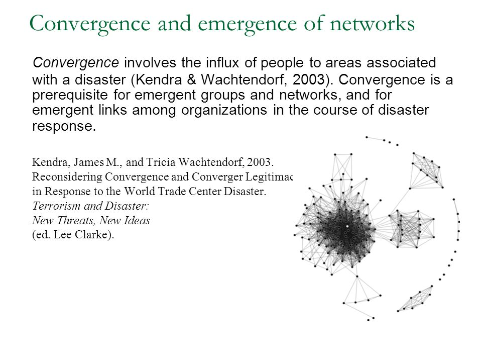 Convergence and emergence of networks