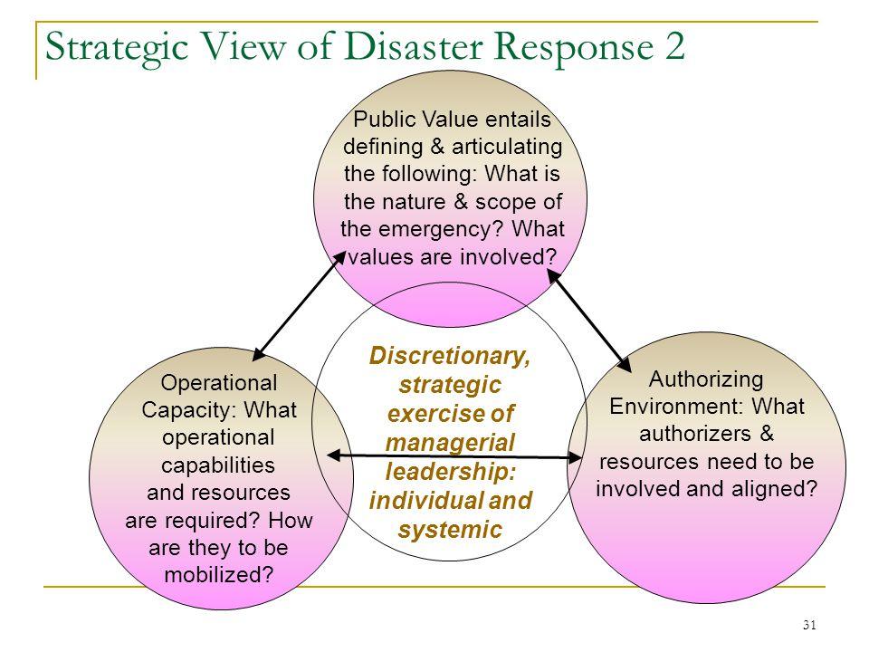 Strategic View of Disaster Response 2