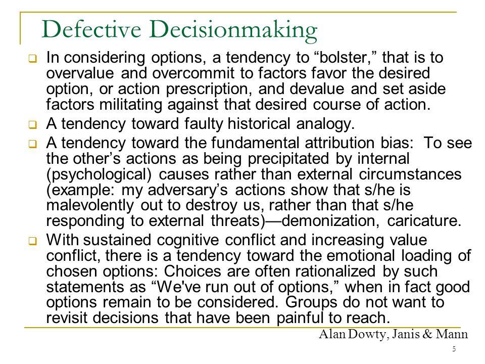 Defective Decisionmaking