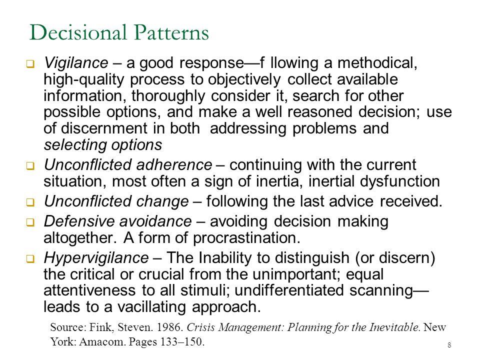 Decisional Patterns
