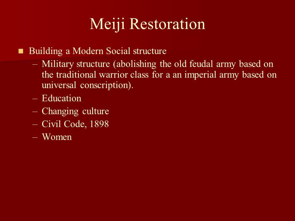 Meiji Restoration Building a Modern Social structure