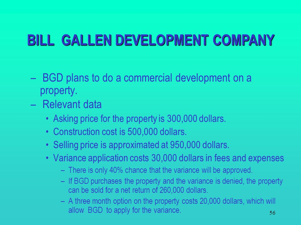 BILL GALLEN DEVELOPMENT COMPANY