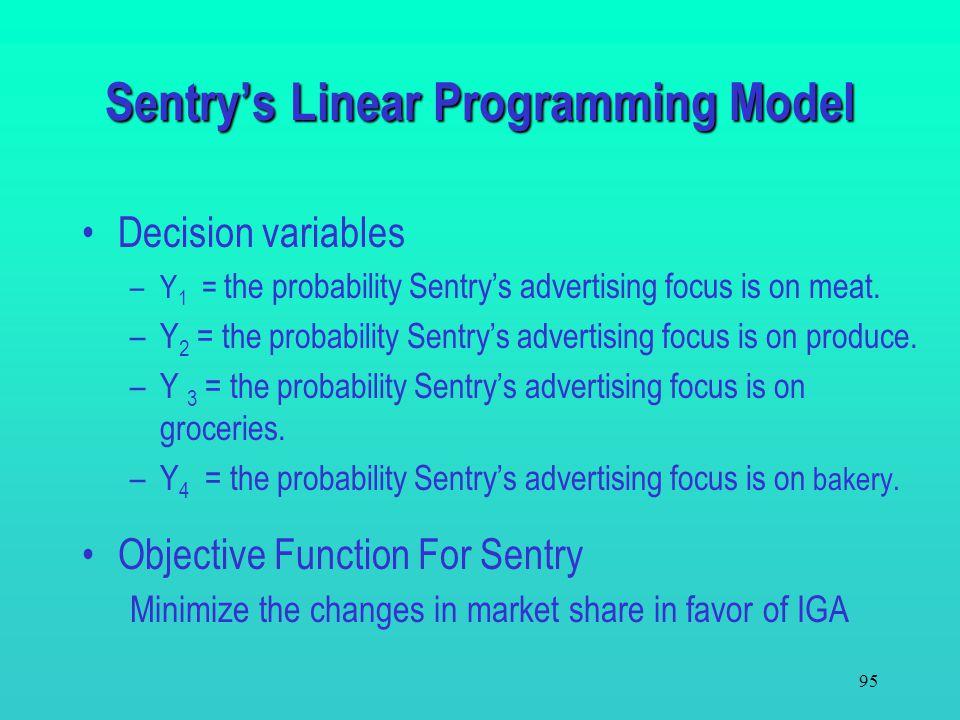 Sentry's Linear Programming Model