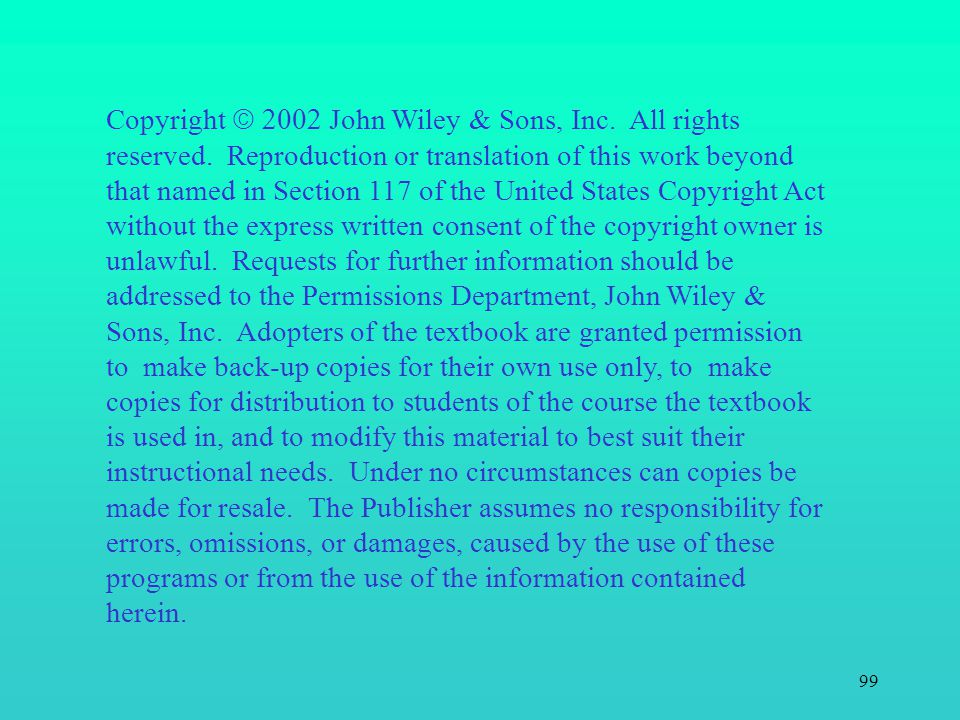 Copyright 2002John Wiley & Sons, Inc. All rights reserved