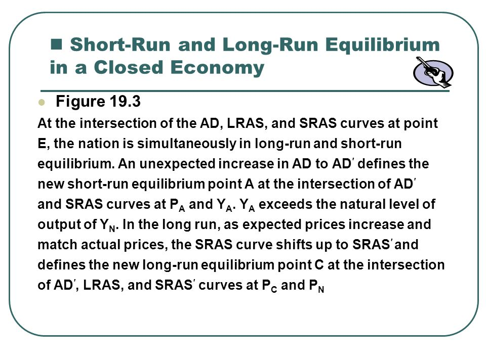 Short-Run and Long-Run Equilibrium in a Closed Economy