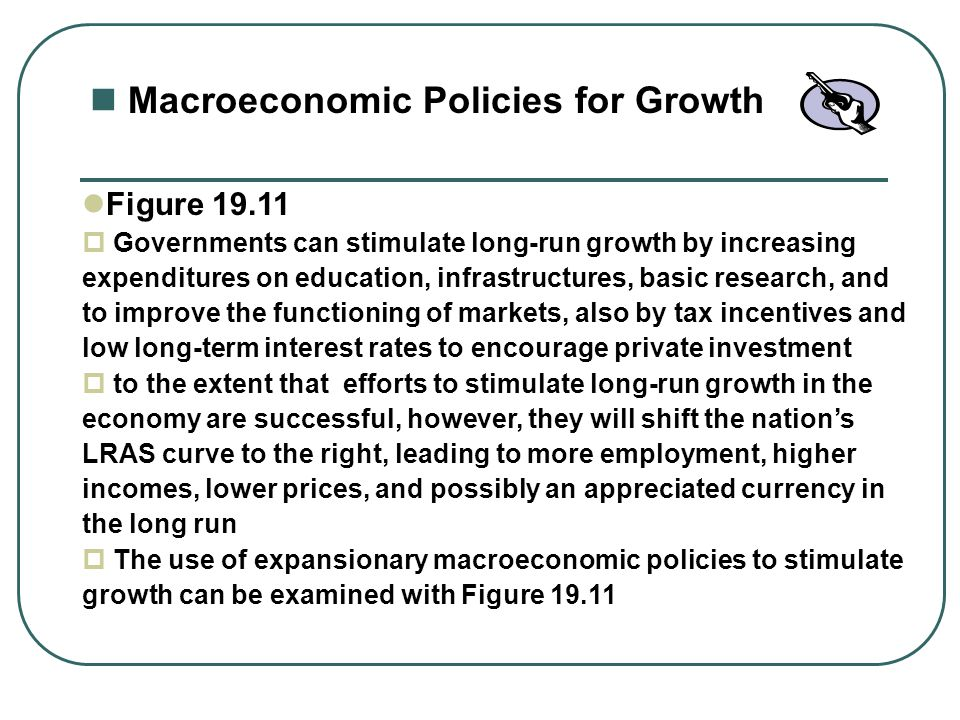 Macroeconomic Policies for Growth