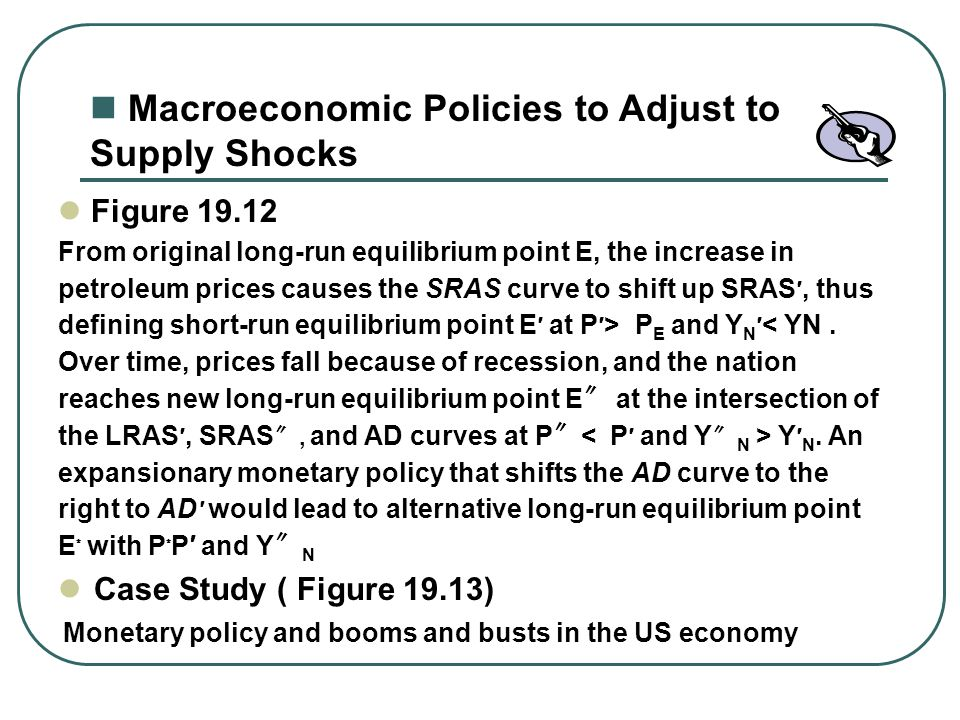 Macroeconomic Policies to Adjust to Supply Shocks