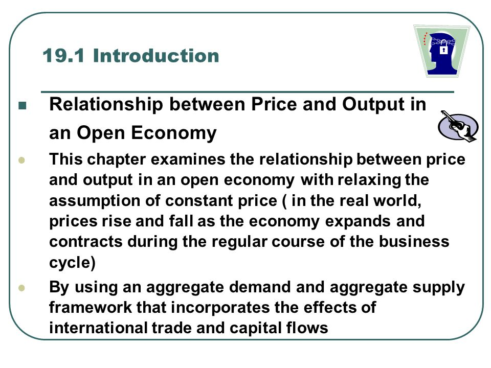 Relationship between Price and Output in an Open Economy
