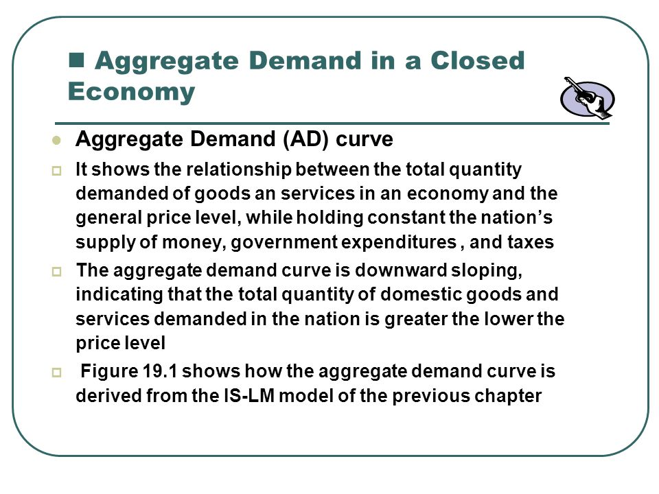 Aggregate Demand in a Closed Economy