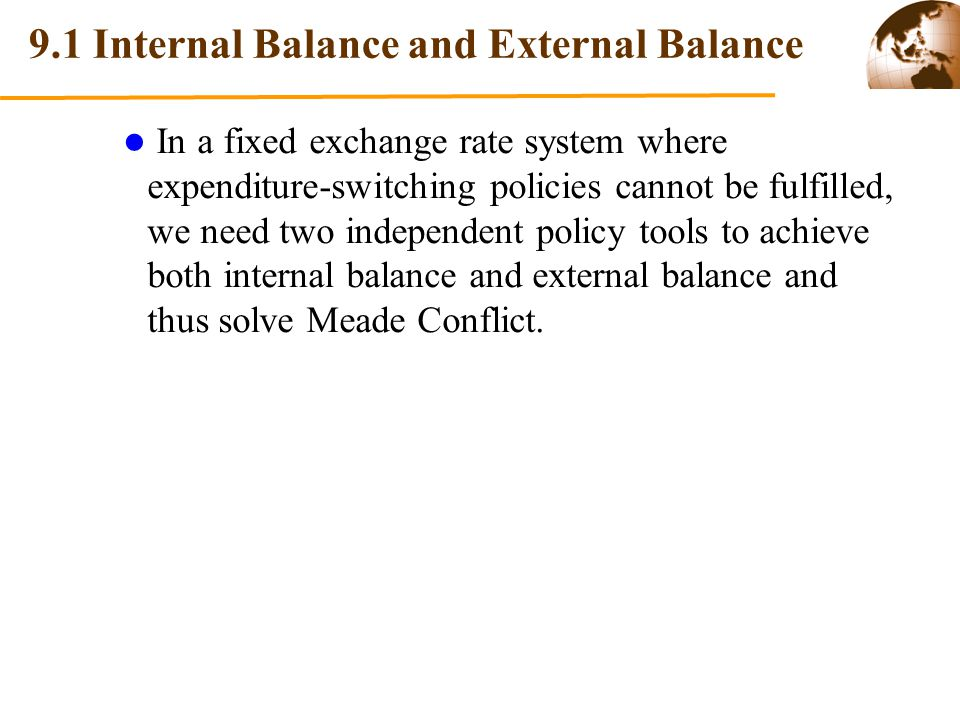 9.1 Internal Balance and External Balance