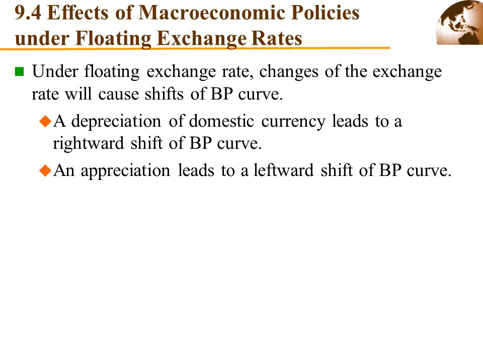 9.4 Effects of Macroeconomic Policies under Floating Exchange Rates