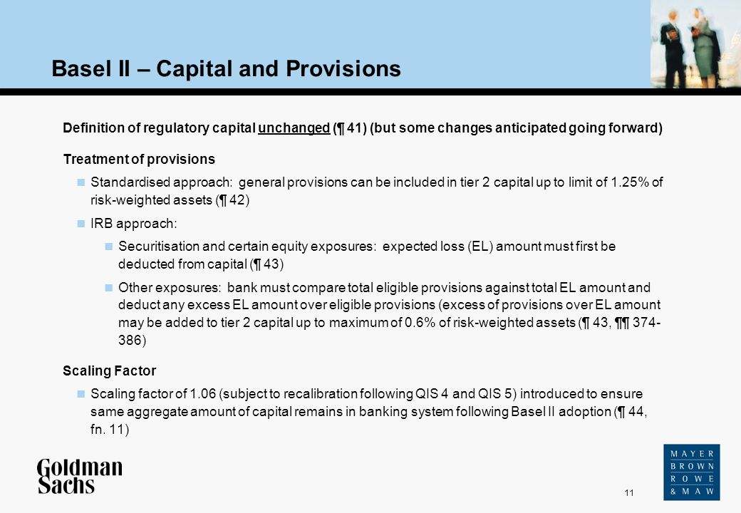 Basel II – Capital and Provisions