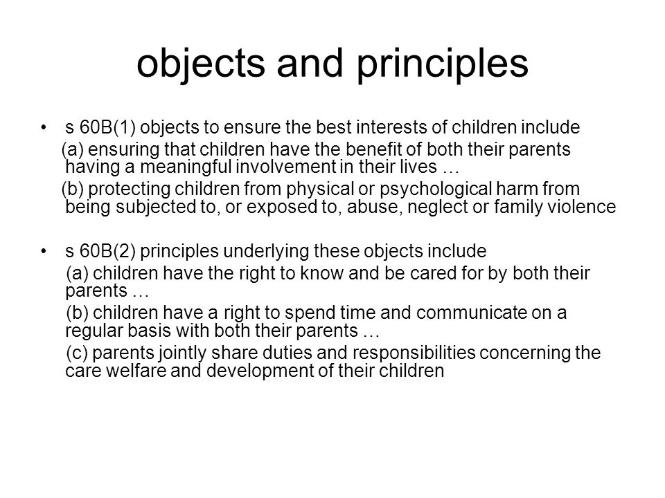 objects and principles