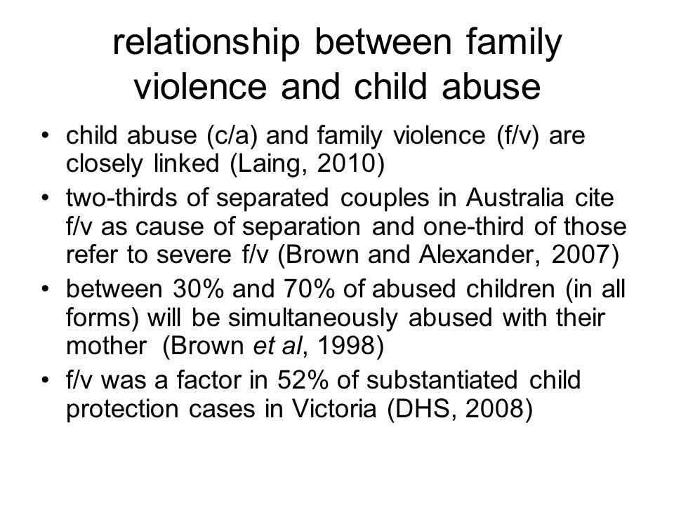 relationship between family violence and child abuse